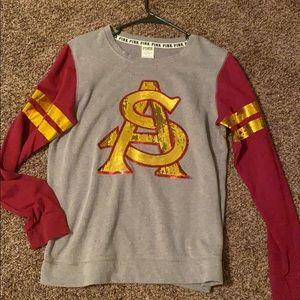 VS Pink ASU sweater (Arizona state university)